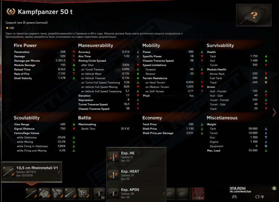 Kampfpanzer 50 t RSR