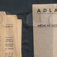 "Touch and ""my crumpled ADLAN tracing papers"""