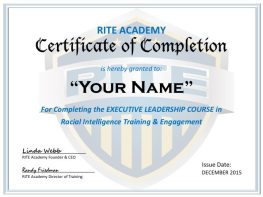 RITE Academy Law Enforcement Leadership Training, Certificate of Completion