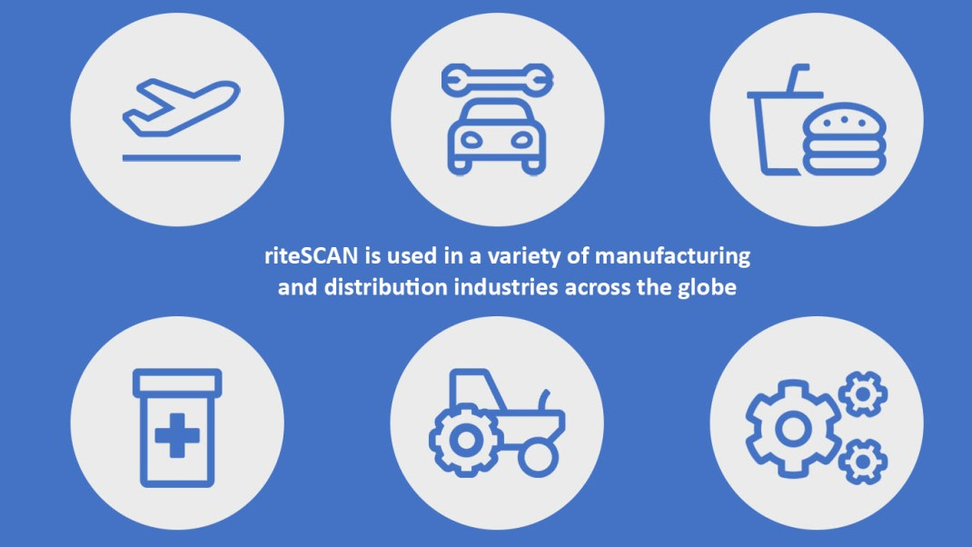 industries served by riteSCAN in manufacturing and distribution WMS