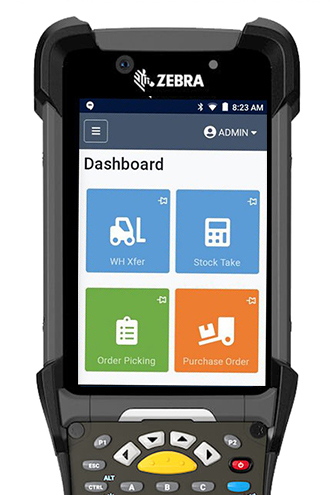 Simple screens designed for operators on the warehouse floor make training a breeze.