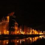 Krantor in Danzig bei Nacht