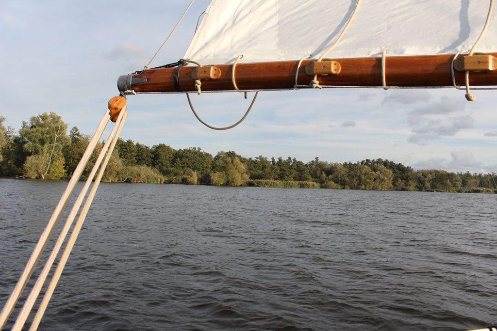 Segeln vor dem Wind nach Stettin