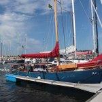RITH am Steg im Hafen von Simrishamn