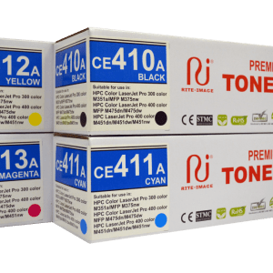 Rite Image Premium Compatible Toner Cartridge HP 305A ( HP CE410A Black/ HP CE411A Cyan/ HP CE412A Yellow/ HP CE413A Magenta)