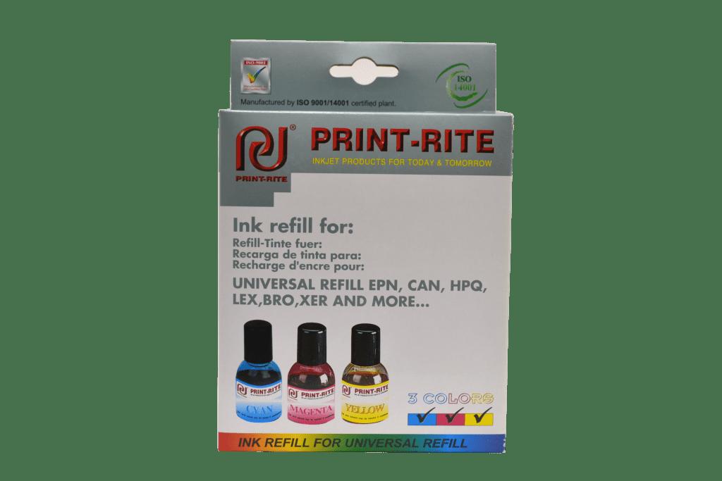 Color printer refill kit print-rite