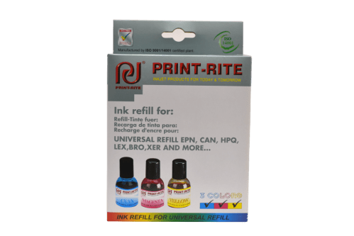 Color printer refill kit print-rite