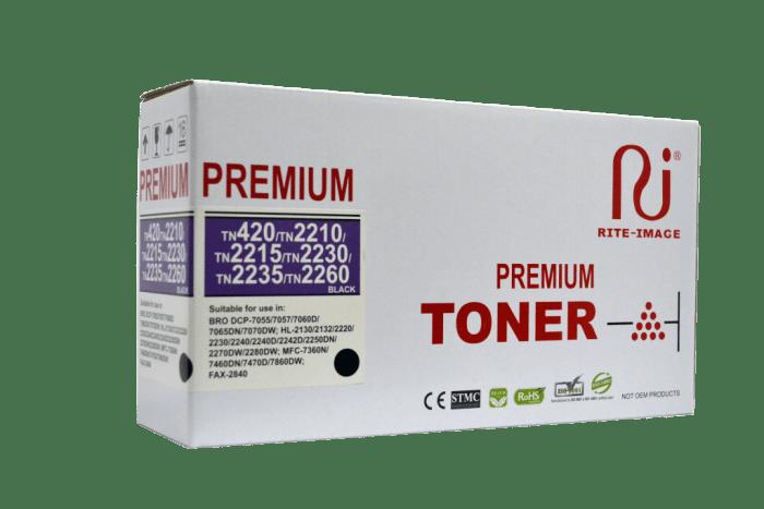 Rite Image Brother TN420/ Brother TN2210/ Brother TN2215/ Brother TN2260/ Brother 2235/ Brother TN2230 Premium Compatible Toner Cartridge