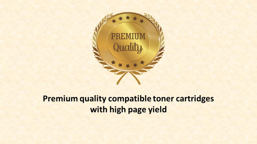 Premium quality compatible toner cartridge with high page yield