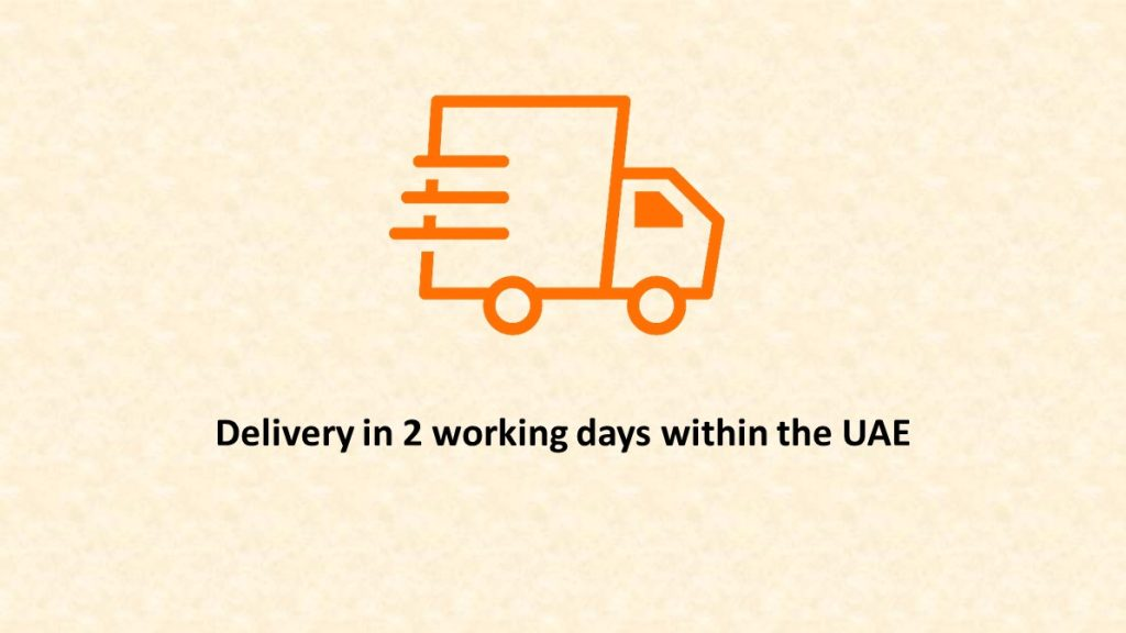delivery in two working days within uae