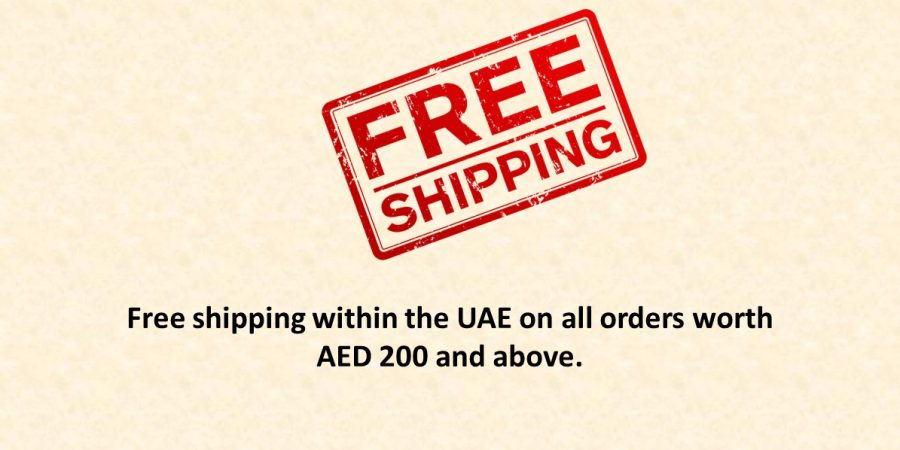 free shipping within the UAE on all orders AED 200 and above