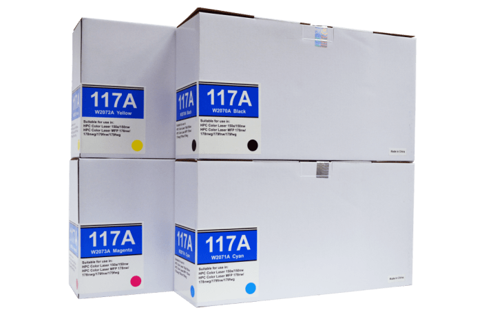 Hp 117A (W2070A/ W2071A/ W2072A/ W2073A) Compatible Toner Cartridge