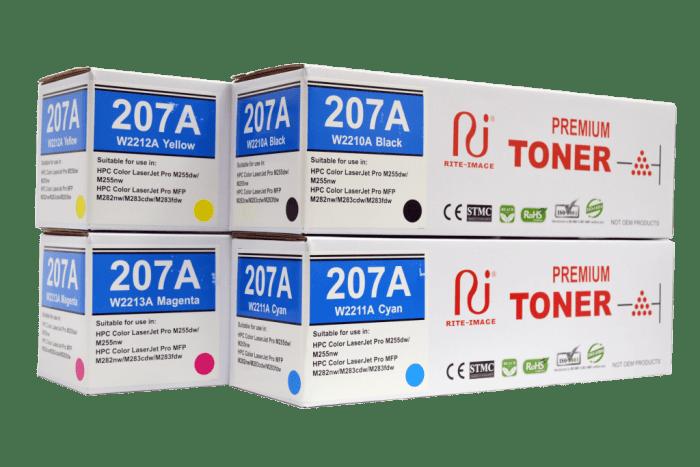 Hp 207A (W2210A/ W2211A/ W2212A/ W2213A) Compatible Toner Cartridge