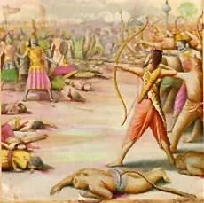 Lakshman killing Indrajit