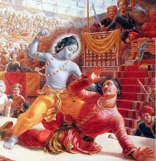 krishna-killing-kansa-indian-mythology