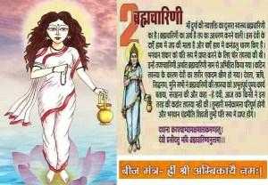 Maa Brahmacharini - worshipped on the second day of Navratri