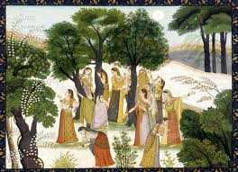 Kangra paintings - Shri Krishna and Radha