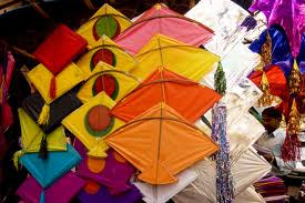 Kite flying is a major activity of this festival