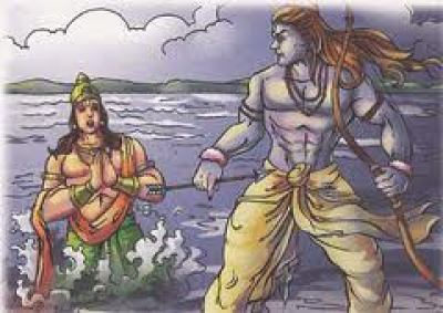 Sea god (Sagar) and Lord Rama