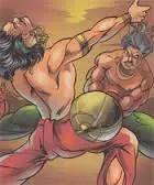 Bhima and Duryodhana – Mahabharata (eighteenth day)