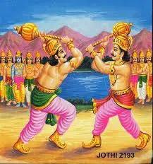 Duryodhana and Bhima in duel