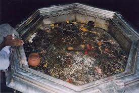 Lord Vishnu's feet imprint