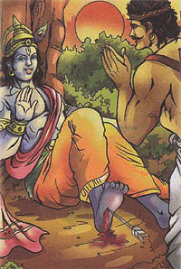 Shri Krishna and the hunter