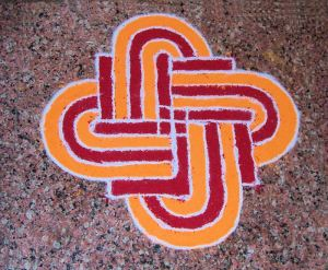 Easy rangoli pattern for Diwali