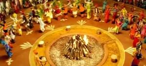 Lohri festival bonfire dance