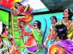 pandavas escape from lakshagriha