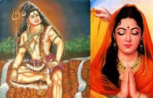 Lord Shiva and Draupadi