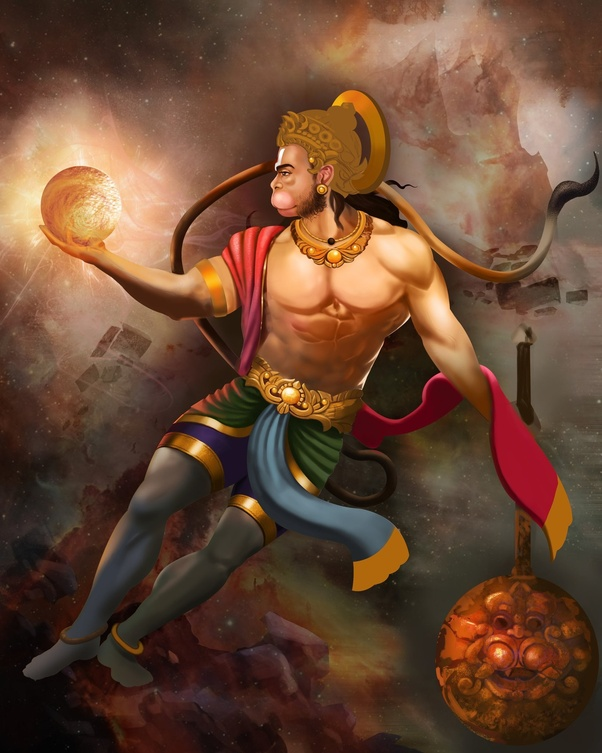 Hanumana and Sun