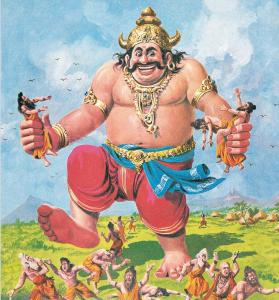 Kumbhkarna - The mighty brother of Ravana
