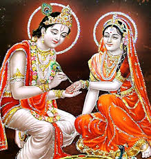 Lord Krishna and Satyabhama