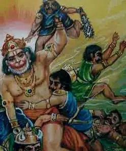 Several Demons killed by Hanumana