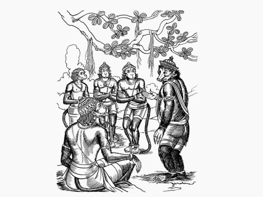 Jambavant advises Hanuman - Ramayana