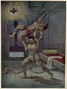Bhima killing Kichaka