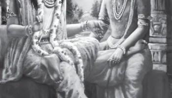 Shri Krishna as a wife to Iravan - Arjuna' son