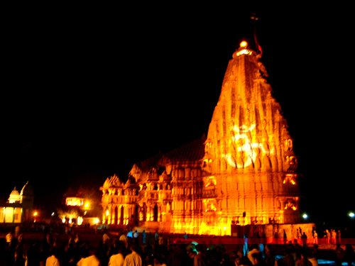 Somnath Mandir at Night