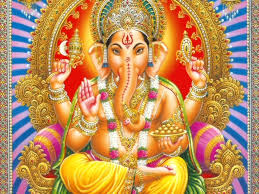 Lord Ganpati having elephant features