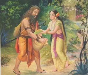 Ravana in disguise of Sage