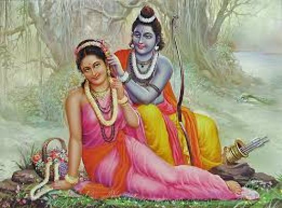 Sita and Ram in forest