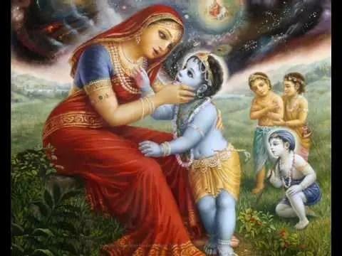 Mata Yashoda Shri Krishna universal form
