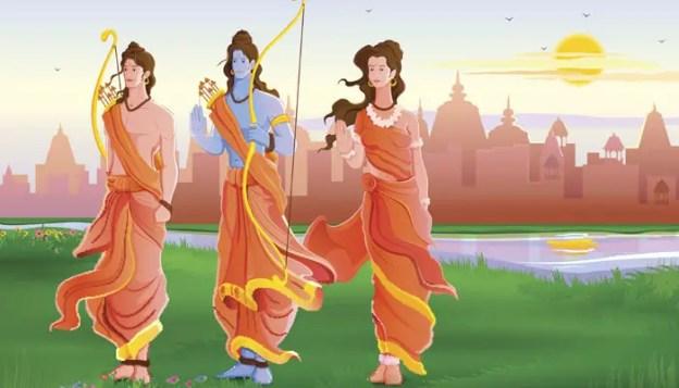 Rama Sita and Laxmana