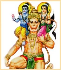 Ram, Lakshman and Hanumana