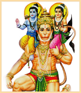 Ram, Lakshman and Hanumana