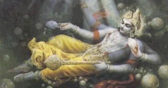 Lord Vishnu and Ksheersagar