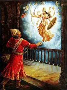 Kansa and Goddess Durga