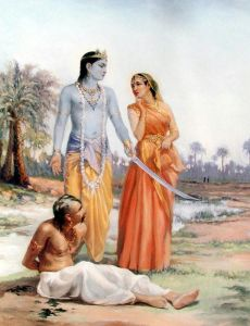 Lord Krishna and Rukmi