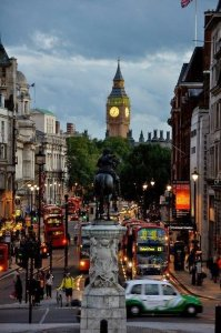 London Horse statue in street